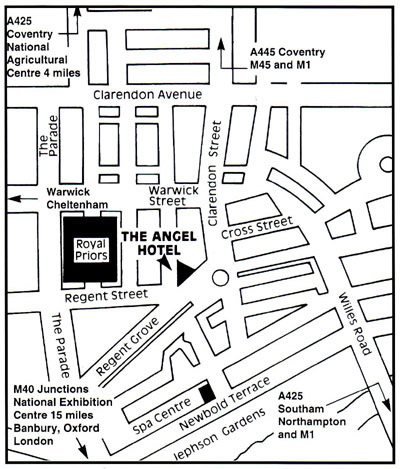 Angel Hotel Leamington location map